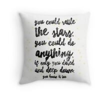 rattle the stars v2 Throw Pillow