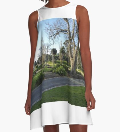Lovely Parklands in front of Geelongs Modern Library. Vic. Australia. A-Line Dress