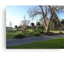 Lovely Parklands in front of Geelongs Modern Library. Vic. Australia. Canvas Print