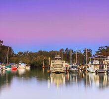 Redland Bay Marina Qld Australia by Beth  Wode