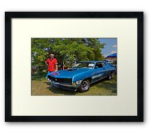 Robert et sa Ford Torino GT Framed Print