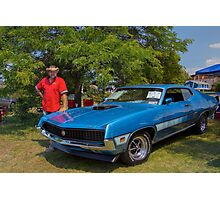 Robert et sa Ford Torino GT Photographic Print