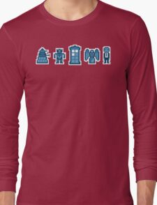 Time and Space Invaders Long Sleeve T-Shirt