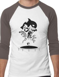 Bouncing Animals Men's Baseball ¾ T-Shirt