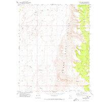 USGS TOPO Map Arizona AZ Olaf Knolls 312696 1971 24000 Photographic Print