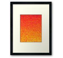 Orange Gradient Framed Print