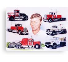 A Man and His Trucks Canvas Print