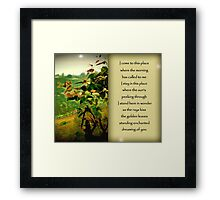 Dreaming of You Framed Print