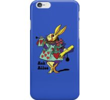 Ask Alice - The White Rabbit 2 - Alices Adventures in Wonderland iPhone Case/Skin