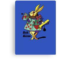 Ask Alice - The White Rabbit 2 - Alices Adventures in Wonderland Canvas Print