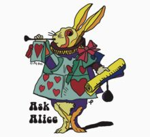 Ask Alice - The White Rabbit 2 - Alices Adventures in Wonderland Baby Tee