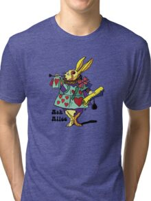 Ask Alice - The White Rabbit 2 - Alices Adventures in Wonderland Tri-blend T-Shirt