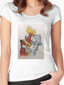 fire and ice  Women's Fitted Scoop T-Shirt