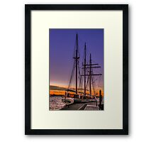 Tall Ship Mystic Framed Print
