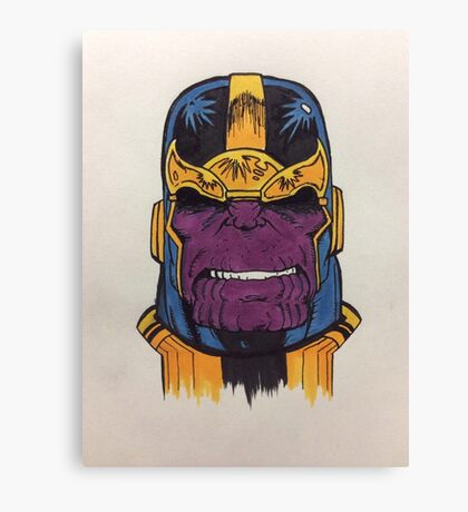 thanos the first Canvas Print