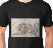 0176 Railroad Maps A map of the internal improvements of Virginia prepared by C Crozet late principal engineer of Va under a resolution of the General Assembly adopted March Unisex T-Shirt