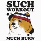 Such Workout, Much Burn - Doge The Dog Workout Shirt by Six 3