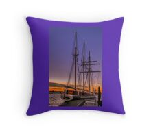 Tall Ship Mystic Throw Pillow