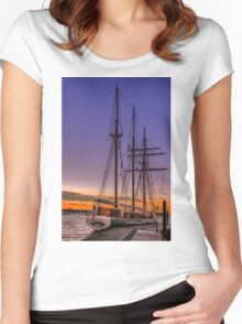 Tall Ship Mystic Women's Fitted Scoop T-Shirt