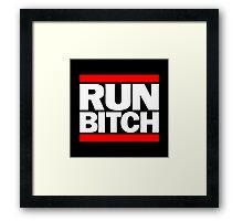 run bitch Framed Print