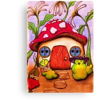 W is for Worms Canvas Print