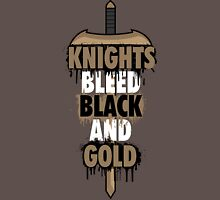 Knights Bleed Black And Gold Unisex T-Shirt