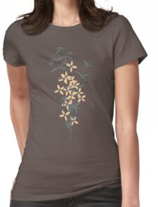 Seamless pattern design with hand drawn flowers and floral elements Womens Fitted T-Shirt