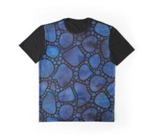 Up the garden path - black and navy Graphic T-Shirt