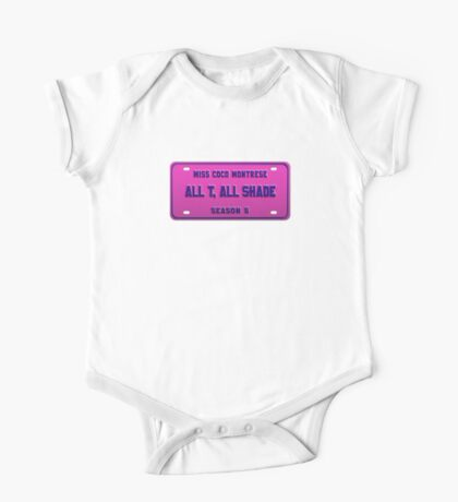 All T, All Shade - Coco Montrese License Plate One Piece - Short Sleeve