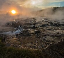 Firehole Sunset by Trent Sizemore