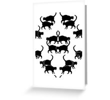 Cats in Profile Greeting Card
