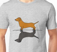 Funny Funky Red Dachshund and Shadow Unisex T-Shirt