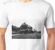 Time Travel By Steam b/w Unisex T-Shirt