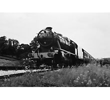 Time Travel By Steam b/w Photographic Print