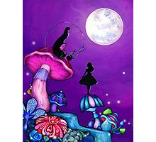 Alice in Wonderland and Caterpillar Photographic Print