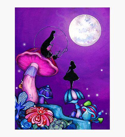 Alice in Wonderland and Caterpillar Photographic Print