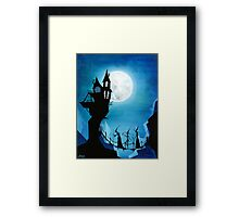 Witch Sisters Journey Home Framed Print
