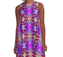 Purple Orchid (VN.88) A-Line Dress