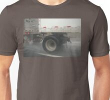 Passing a Truck on a Rainy Highway Unisex T-Shirt