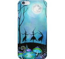 Witches Dancing Under the Moob iPhone Case/Skin