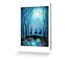 Witches Dancing Under the Moon Greeting Card