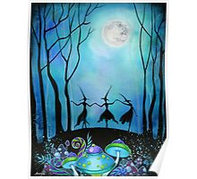 Witches Dancing Under the Moon Poster