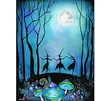 Witches Dancing Under the Moon Photographic Print