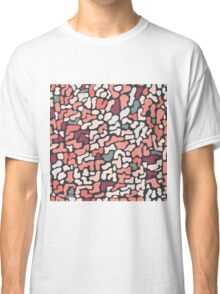 Seamless pattern with organic hand drawn rounded and stripe shapes Classic T-Shirt