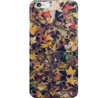 Autumn Leaves Underwater iPhone Case/Skin