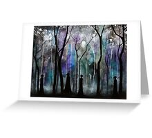 Haunted by Shadows Greeting Card