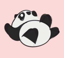 Tumbling Panda Bear Kids Tee