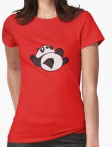 Tumbling Panda Bear Womens Fitted T-Shirt