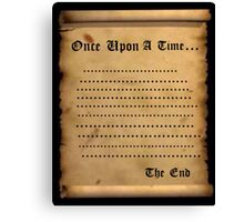 Once....... Canvas Print