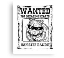 Hamster Bandit Canvas Print